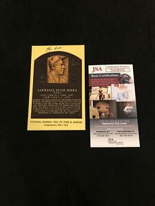 Yogi Berra Signed Vintage HOF Plaque Postcard Autograph NY Yankees JSA Cert!