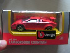 voiture    lamborghini  countach burago  1/43 ref 21
