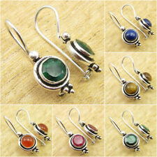*Great Variety* 925 Silver Plated SIMULATED EMERALD & Other Gem FASHION Earrings