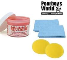 Poorboys Nattys Paste Car Wax Carnauba Natty's Red 8oz + 2 Free Cloths & Pads