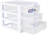 Plastic Storage Drawers Clear Rack Container Sterilite Bin Cabinet Organizer New