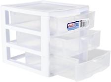 Plastic Storage Drawers Clear Rack Container Sterilite Bin Cabinet Organizer New