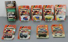 MATCHBOX Trucks & Car Lot - 9 Vehicles from 1998-2002
