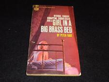 "Gold Medal k1540 1965 PBO Peter Rabe ""GIRL in the BRASS BED"" VG GGA"