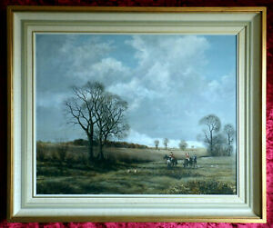 THE HUNTING FOR A FOX. OIL PAINTING ON BOARD. JOHN EDMUND MACE.