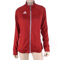 Adidas Women's Red Climate Long Sleeve Full Zip Utility Track Jacket Size M NWT