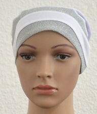 ISLAM-ABAYA- Kopftuch-Hijab Turban Bonnet Cap Bone mit Pailletten gestreifte