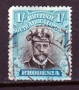 Rhodesia-1913/22.1/-, Blk&-Green-Blue, P15,SG248. Fine used
