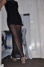 "MAXI PARTY BLACK MESH STRETCH Bodycon-DRESS""ARROGANT CAT""style of corset 8-10 S"