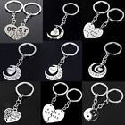 Family Gifts Silver Broken Heart Pendant Friendship Keyrings Keychain Key Chain