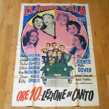 ORE 10 LEZIONE DI CANTO poster manifesto Virgilio Riento Claudio Villa Girolami