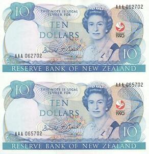 NEW ZEALAND 1990 COMMEMORATIVE $10 UNCUT BANKNOTE SHEET #AAA - MINT & PERFECT