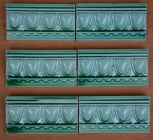 ALFRED MEAKIN -  ANTIQUE ART NOUVEAU MAJOLICA BORDER TILE C1900