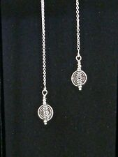 *IAJ* THAI KAREN HILL TRIBE SPIRAL CIRCLE STERLING Ear Thread Threader Earrings