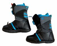 Burton Youth Zipline Snowboard Boots Youth Size 7 Black Light Blue
