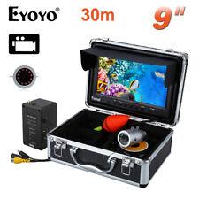"""30m 9"""" LCD 1000TVL 8GB IR Fishing Camera Fish Finder DVR Recording Professional"""