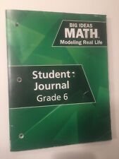 Big Ideas Math Modeling Real Life Student Journal Grade 6 By Larson & Boswell
