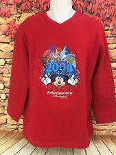 2004 Disney Disneyland Resort Mickey Mouse Sorcerer A Whole New World Fleece Top