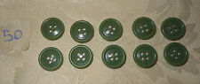 10 bottoni verdi cm. 1,5  (50) Vintage Knoepfe Boutons Buttons ^