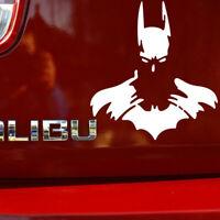 1x White Batman Superhero Car Sticker Window Laptop Wall Room Bumper PET Decal