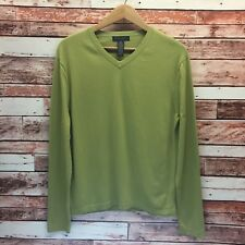Banana Republic Mens Olive Green Cashmere/Silk/Cotton Blend Sweater. Size M.