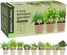 9Herb Window Garden, Indoor Organic Growing Kit , Kitchen Windowsill Starter Kit