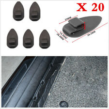 Car Mat Carpet Clips Fixing Grips Clamps Floor Holders Sleeves Premium Black x20