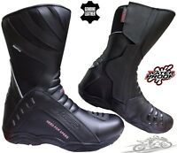 SPEED MAX HIGH TECH MENS MOTORBIKE MOTORCYCLE TOURING LEATHER SHOES / BOOTS