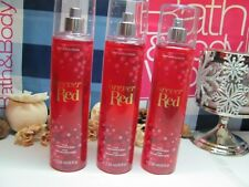 Bath and Body Works 3 ~ FOREVER RED ~  Fine Fragrance Mist
