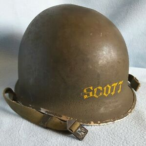 ORIGINAL WW2 PERIOD NAMED U.S. M1 HELMET SHELL