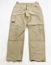 Vintage Arborwear Double Knee Canvas Pants Mens 32x30.5 Beige (Tagged 34x32) USA