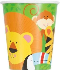 Animal Jungle Cups - Pack of 8