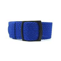 Premium Blue Braided Nylon Perlon Watch Strap (Black, 20mm, 22mm)