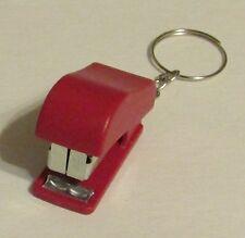 Mini Red STAPLER School Office for Paper KEY CHAIN Ring Keychain NEW