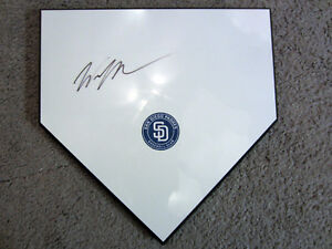 WILL MEYERS San Diego Padres SIGNED Autographed Home Plate Plaque Base w/COA