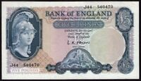 Great Britain Bank of England 5 Pound Banknote (1959) P-371 UNC