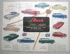 1952 Nash AIRFLYTE Brochure / Poster: AMBASSADOR,STATESMAN,RAMBLER,Custom,Wagon,