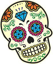 Colore Messicano Giorno dei Morti Sugar Skull & Diamante Motivo Auto Adesivo Decalcomania (C