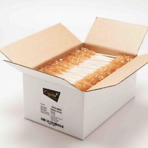 Box 50 pcs Amber Sugar Crystal Swizzle Sticks | The Sugar Crystal Company
