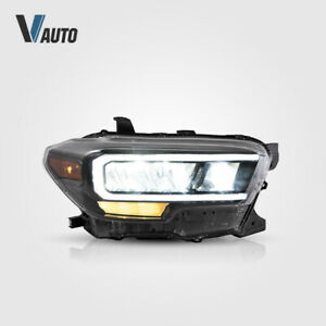 Full LED Reflector Headlights Fit For Toyota Tacoma 2015-2020 DRL Set Assembly