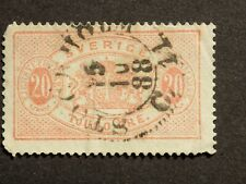 (1) used Swedish stamp off paper Scott # O19