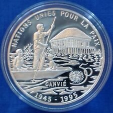Benin 6000 francs proof silver 1995 United Nations 50th Anniversary