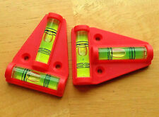 "*BEST DEAL* Lot of 2 - ORANGE 2 Way Bubble T Levels 2.25"" x 1.75"" Camper RV Shop"