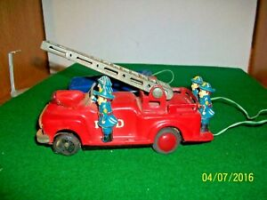 Vintage 1950's Battery Operated Fire Truck made in Japan parts or repair
