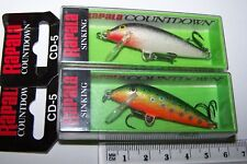 RAPALA FISHING LURES PAIR OF CD-5  COUNTDOWN    Trout, Bass, Cod. #2 *