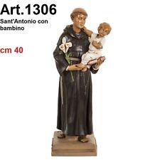 Statua religiosa FONTANINI sant'antonio con bambino cm 40 in PVC arte sacra
