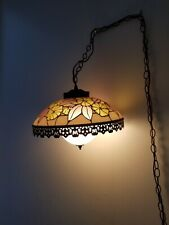 Vintage Tiffany Style Floral Pendant Hanging Lamp