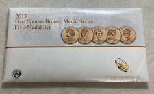 U.S. Mint 2013 First Spouse Bronze Medal Series Five Medal Set