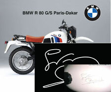 BMW  R80G/S  Paris Dakar-firma-Gaston Rahier - signature-unterschrift