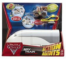 DISNEY PIXAR CARS 2 ACTION AGENTS Spy Train Playset